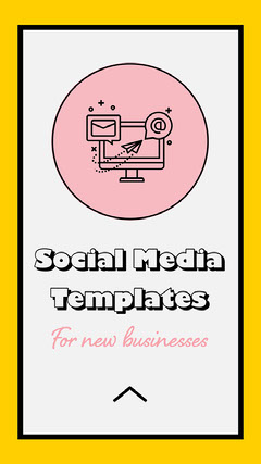 Yellow & Pink Social Media Template Instagram Story Social Media Flyer