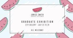 Blue and White Graphic Designer Graduate Exhibition Facebook