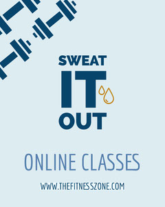 Blue Fitness Zone Online Classes Instagram Portrait  Gym