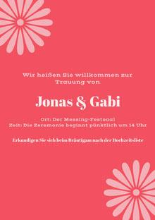 pink hues  wedding cards Hochzeitsdankeskarten