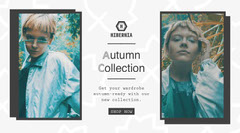 White and Grey Autumn Collection Promo Twitter Deal