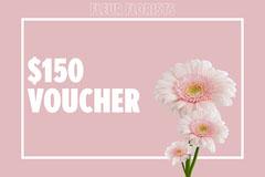 Pink Floral Fleur Florists Voucher Flowers