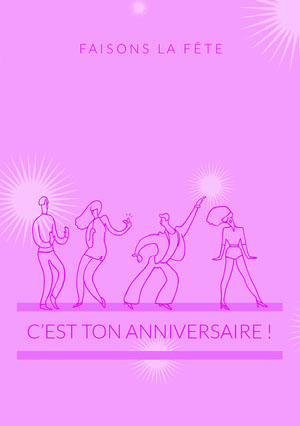 let's get this party started birthday cards  Invitation à une fête