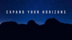 Blue Night Sky Inspirational Desktop Wallpaper Background