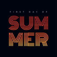 Black and Orange Summer Instagram Graphic Summer