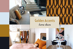 Golden Accent Home Decor Mood Board Decor