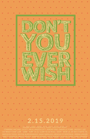 Orange and Green Movie Poster with Spotted Pattern Filmposter