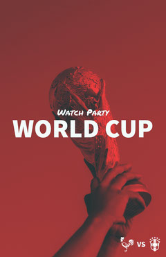 Red Toned World Cup Watch Party Instagram Story Soccer