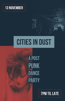 Grey and Red Cities In Dust Poster Poster