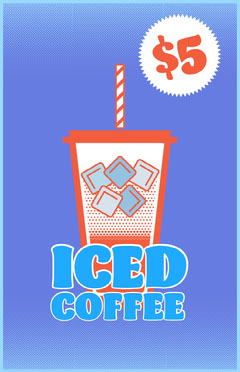 Iced Coffee Flyer Food Flyer
