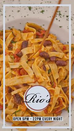 Pasta Italian Restaurant Instagram Story Instagram Story