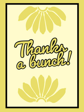 Yellow and White Sentence Social Post Thank You Card