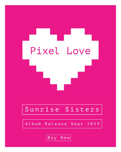 Pink and White Pixel Love Social Post Launch