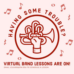 Virtual Band Lesson Instagram Post Music Lessons Flyer