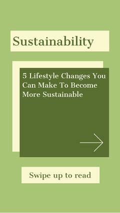 Sustainability Instagram Story Lifestyle