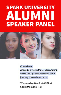 Red and White Collage Speaker Panel Event Flyer Poster  Speaker
