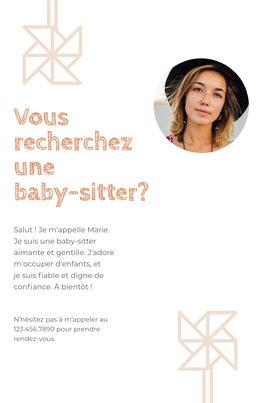 Vous recherchez <BR>une baby-sitter? Prospectus