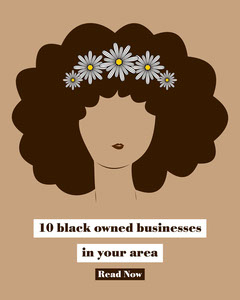 Brown white yellow daisies black lives matter support businesses - instagram portrait Black And White