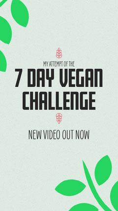7 Day Vegan Challenge Instagram Story Vegan