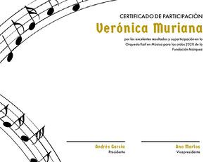 Verónica Muriana  Certificado