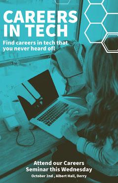 Blue Tech Careers Poster Tech