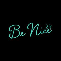 be nice instagram  Teal