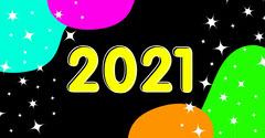 Multicolour Sparkles 2021 Facebook Post Fireworks