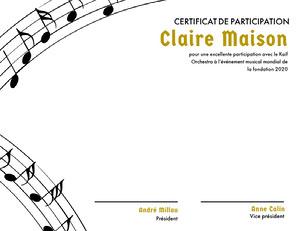 Claire Maison  Certificat