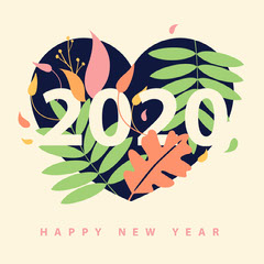 2020 heart leaves new year igsquare  Heart