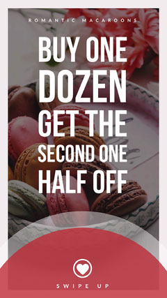 Red, Dark Toned Macaroons Ad Instagram Story Bogo