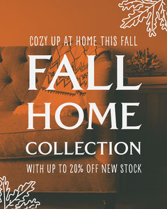 Orange Home Fall Collection Instagram Portrait  New Collection