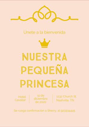 little princess baby shower invitations  Invitación de fiesta de nacimiento