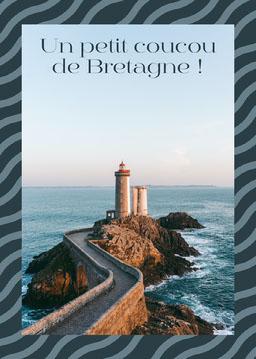 Blue Pattern Ocean Scenic Postcard