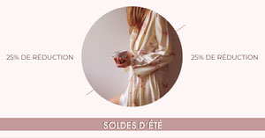 pastel pink summer sale - IG Landscape  Flyer publicitaire