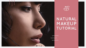 NATURAL MAKEUP TUTORIAL YouTube Banner