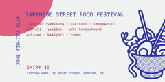 White and Violet Japanese Street Food Festival Eventbrite Food