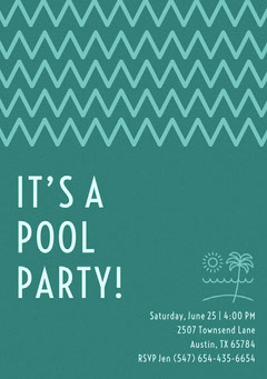IT'S A <BR>POOL PARTY! Teal