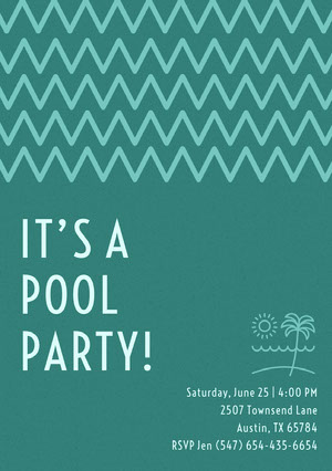 IT'S A <BR>POOL PARTY! Invitación de fiesta