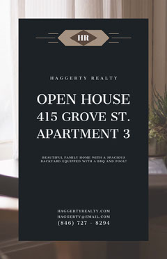 OPEN HOUSE<BR>415 GROVE ST. <BR>APARTMENT 3 Open House Flyer