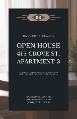 Open House Real Estate Agency Flyer Prospectus immobilier