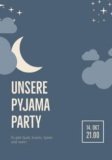Unsere Pyjama Party Einladung