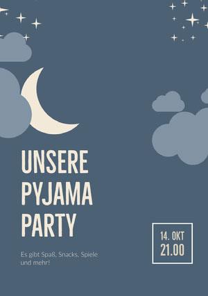 Unsere Pyjama Party Einladung zur Party