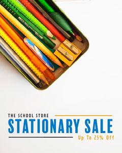 Pencils School Store Stationary Sale Instagram Portrait Discount