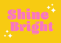 Yellow & Pink Shine Bright Star Card Stars
