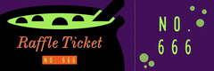 Green, Purple and Black, Halloween Party Ticket Holiday Party Flyer