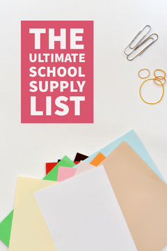 Multicolored Paper School Supplies List - Pinterest   Education