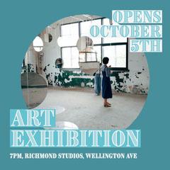 Blue Art Exhibition Instagram Square  Art Exhibition