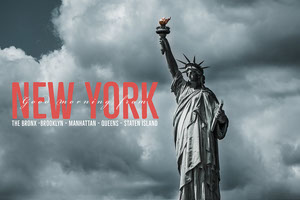 Grey Clouds Statue Of Liberty New York City Postcard 4x6 Postcard