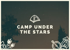 camp under the stars card Stars