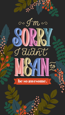 Dark Toned, Colorful Funny Apologize Instagram Story Artists Collection: Adobe Spark Stylemakers
